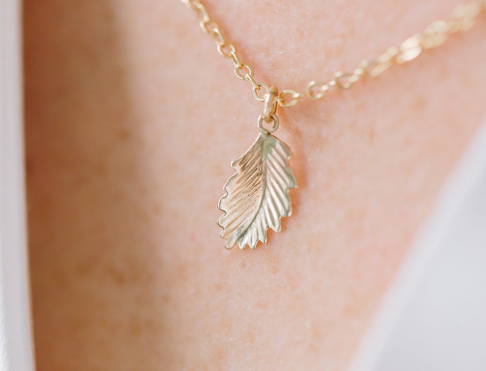 Gold Filled Leaf Pendant