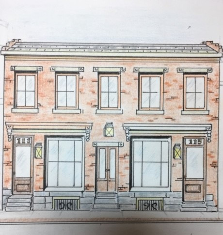 Artist interpretation of the Nace Building post-restoration