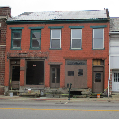 Current condition of the Nace Building storefront
