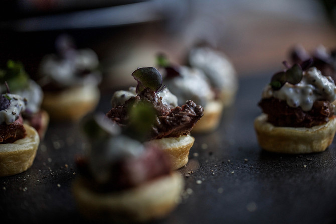 RECIPE: Mini Yorkshire puddings with rare beef & horseradish creme