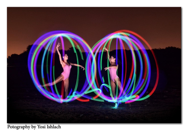 אפקטים של אורות צבעוניים