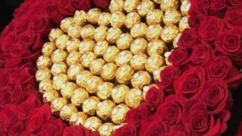 Eternity Roses & Ferrero Roche Heart Box