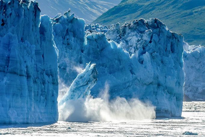 Hubbard Glacier - a huge iceberg calves