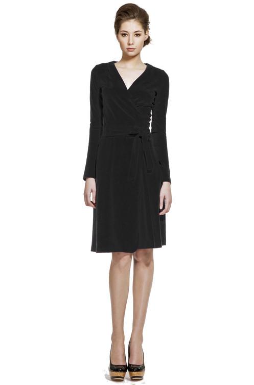 a535e410e1ef Nadčasové zavinovací šaty z příjemného elastického bavlněného úpletu s  Lycrou.