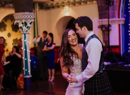 Alexandra and David's winter wedding at Glasgow University Chapel, the Botanic Gardens and Oran Mor