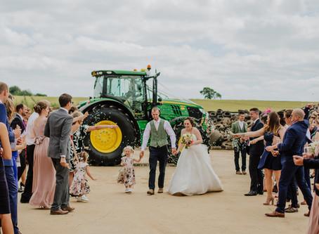 Jack and Kayleigh's rustic Devon farm wedding in July