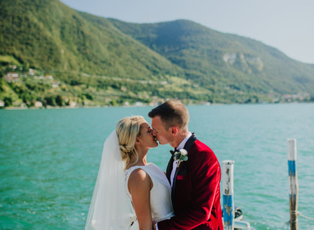 Paul and Abbie's luxurious destination wedding at Monte Isola, Italy in August