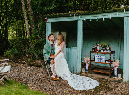 Jess and Hector's intimate Cairngorms celebration in August