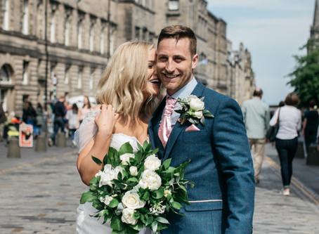 Jess and Pete - Edinburgh in June