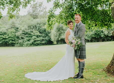 Jenny and Greig's Inglewood House wedding in August