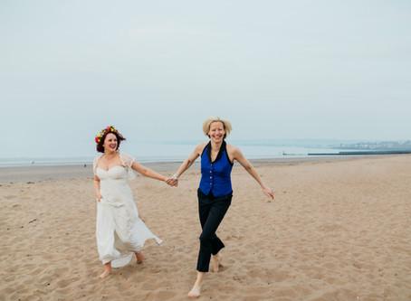 Hayley and Julie's wedding extravaganza - Portobello in April