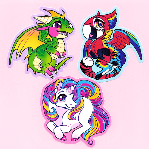 Mythic Critters: Sticker Set