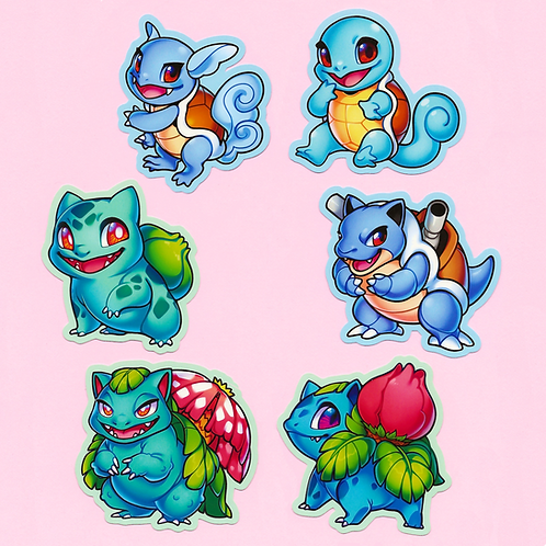 Pokémon: Starter Stickers