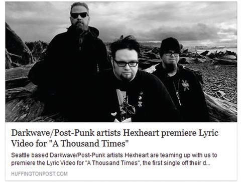 "The lyric video for our 1st single ""A Thousand Times"" premieres on the Huffington Post!!!!"