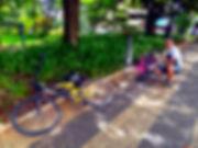 Caminho do Sol, Caminho de Santiago, passeio de bike, Capivari, conserto pneu bicicleta