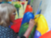 Mônica Moraes arte guarda-chuva abstrato Ubatuba