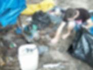 acampamento poluição praia do cedro mutirão lixo mar