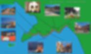 Mapa turistico da Costa Amalfitana