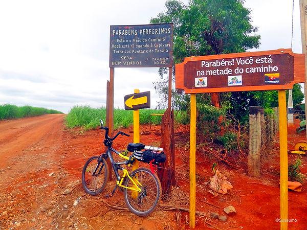 Caminho do Sol, Caminho de Santiago, passeio de bike, metade do caminho