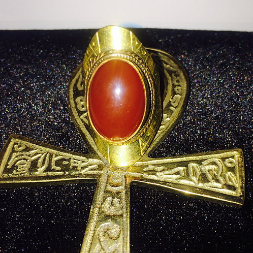 Brass Red carnelian 6