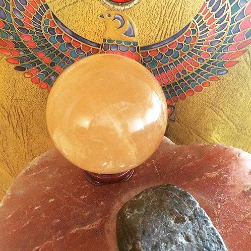 Golden honey Calcite sphere
