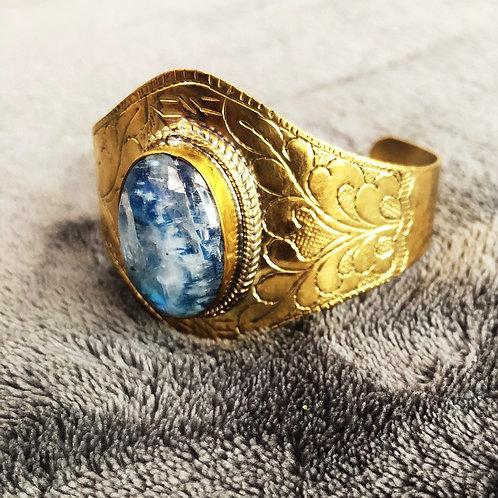 Brass Moonstone Transformation cuff