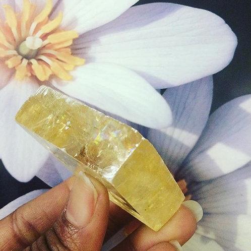 Transparent Golden Calcite