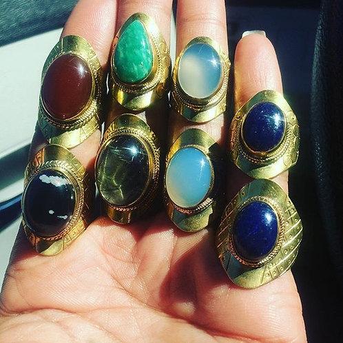 Brass Lapis lazuli
