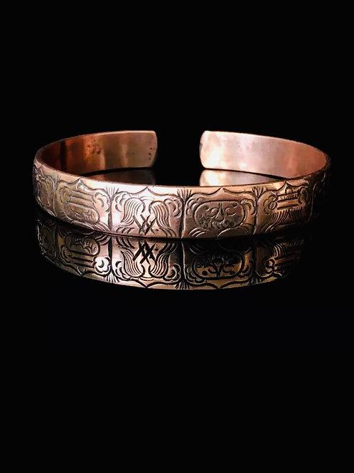 Sacred geometry copper cuff