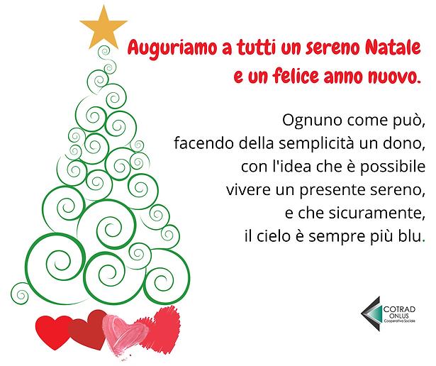 auguri di buon natale e di un nuovo anno