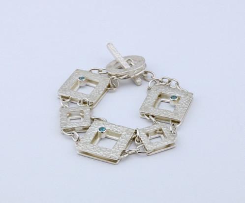 Square Picture Frame Link Bracelet