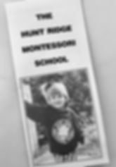 Original Hunt Ridge Montessori Brochure