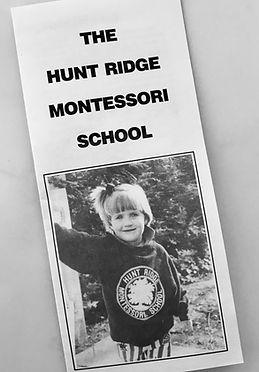 Original Hunt Ridge Montessori Brochure