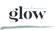 MELANIN GLOW logo tekst + streep transpa