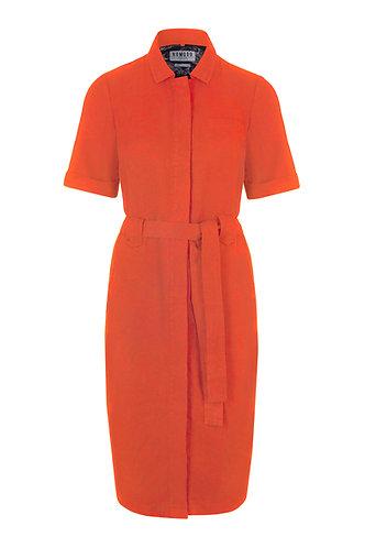 LINLIN Tencel Linen Shirt Dress