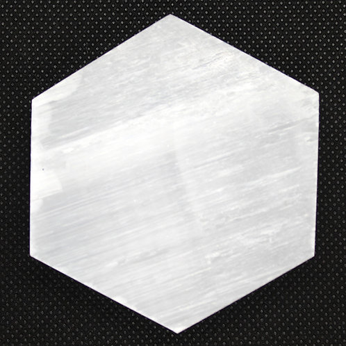 White Selenite Hexagonal Plate