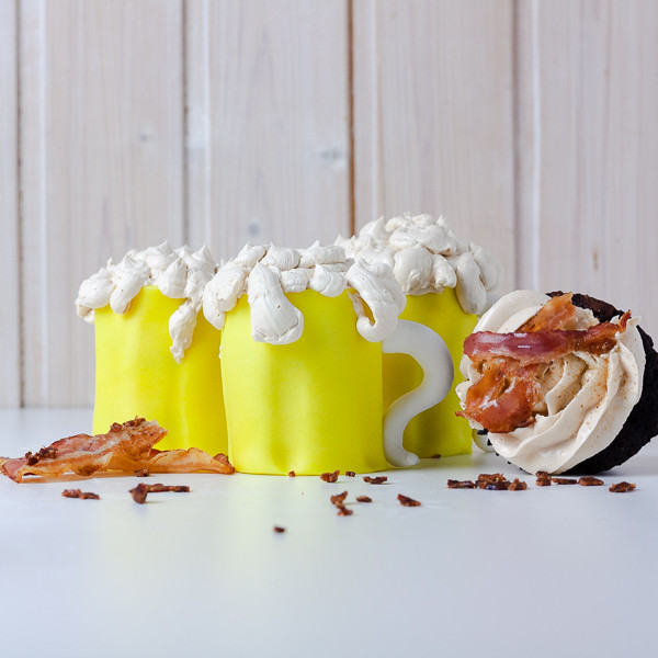 Bacon & Beer Cupcakes