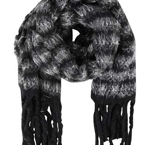 Sciarpa in maglia lurex