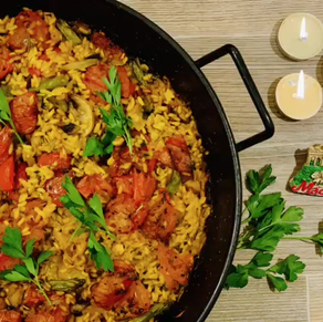 PAELLA Authentic SPANISH vegetarian RICE DISH