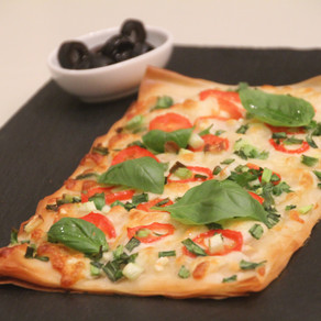 Filo Pizza with crispy, light & flaky