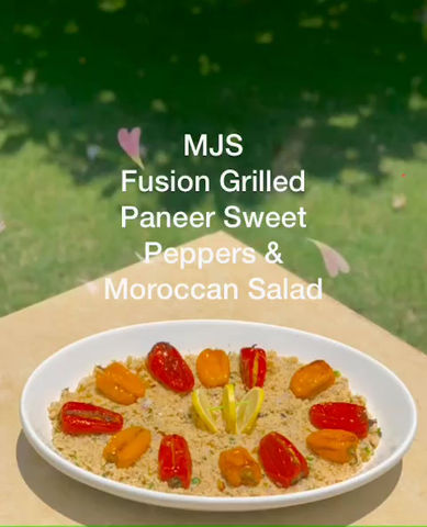 FUSION PANEER SWEET PEPPERS & MOROCCAN SALAD