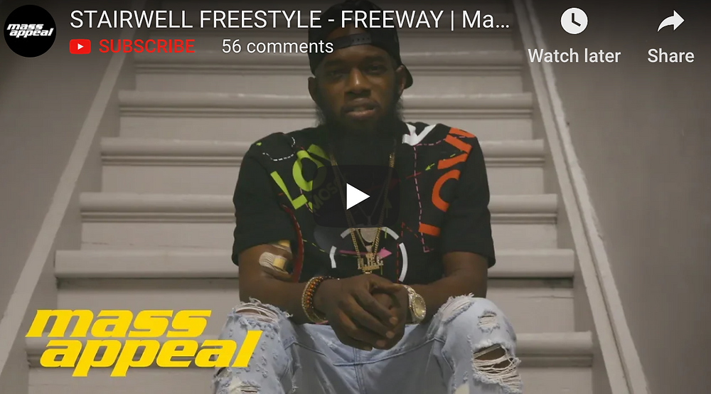 Freeway slid through to the Mass Appeal HQ recently.