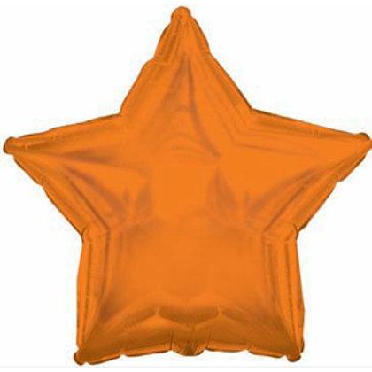 Шары-звезды оранжевые