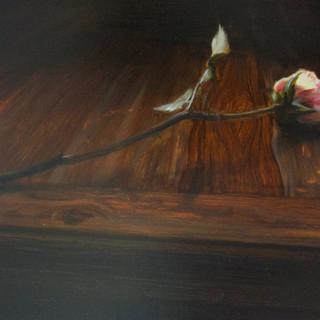 The Nightflowers VI, 2019, oil on aluminium, 20 x 40cm.