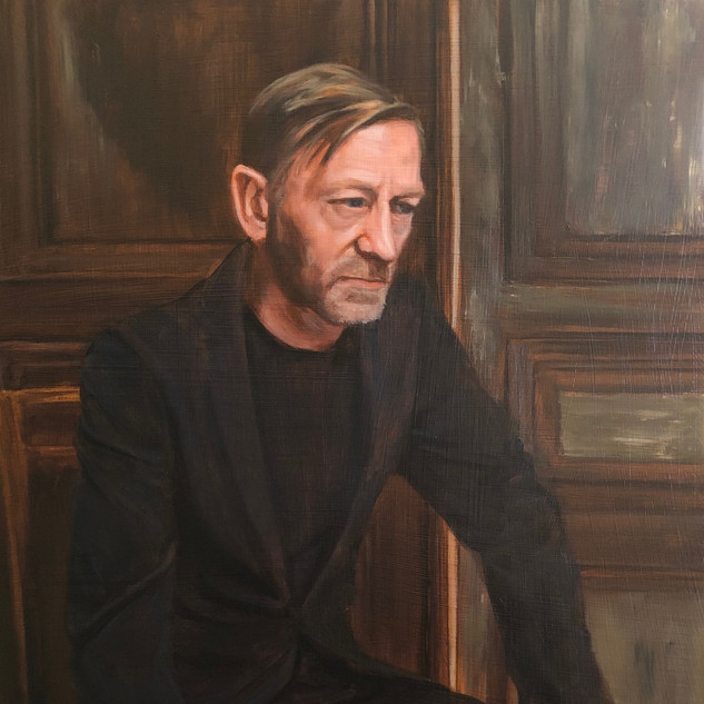 The Master, 2019, oil on aluminium, 60 x 40cm.