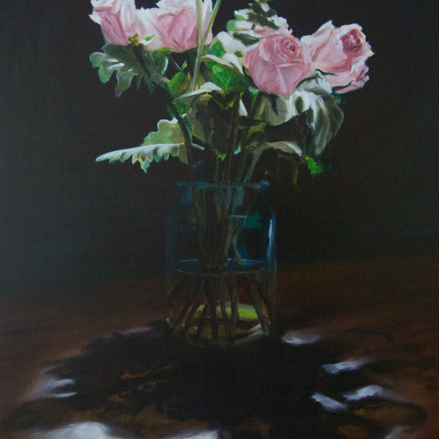 The Nightflowers II, 2019, oil on aluminium, 75 x 50cm.