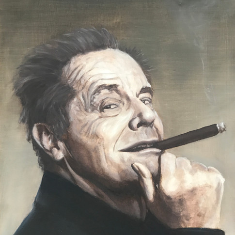 Jack Nicholson, 2017, oil on aluminium, 40 x 30cm.