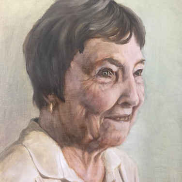 The Artist's Grandmother, 2016, oil on aluminium, 40 x 30cm.