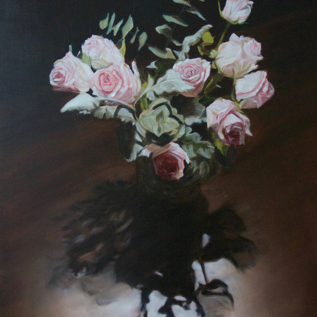 The Nightflowers, 2019, oil on aluminium, 80 x 60cm.