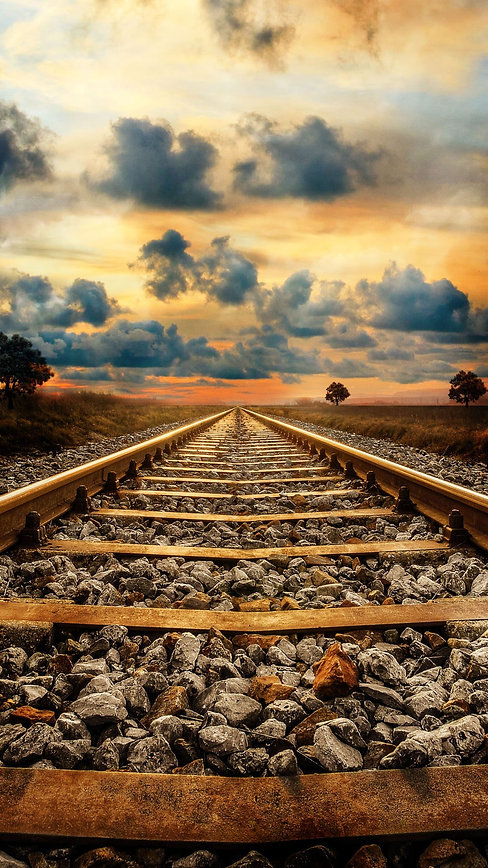 Railway-Track-Sunset-Creative-4K-Wallpap